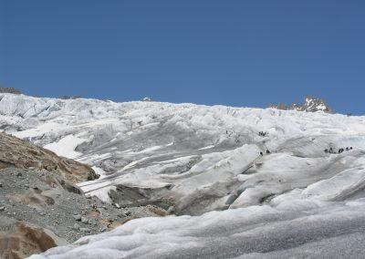 Ghiacciaio Rodano corso ghiaccio